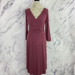 Anthropologie Maeve Galena Dress Wine Sz M